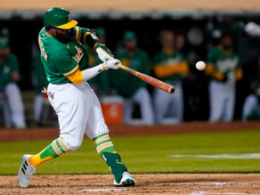 Harrison Propels Oakland to win against the Giants