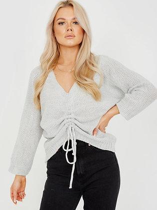 Daisy Knot Sweater Grey