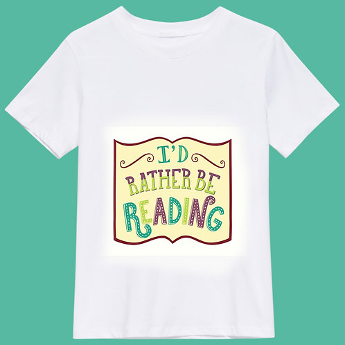 I'd rather be reading - white
