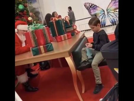 VIDEO: Asshole Santa Makes Kid Cry