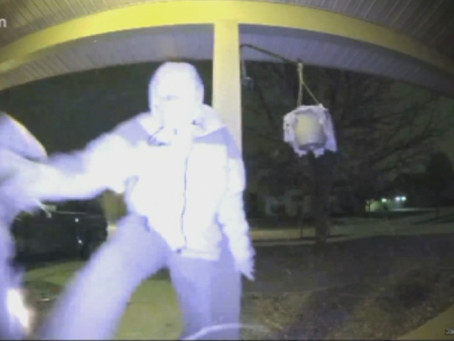 VIDEO: Burglar Shoots Himself in the Leg Trying to Kick in a Door