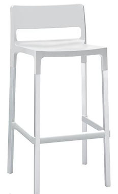 Divo Bar Stool 75cm h White