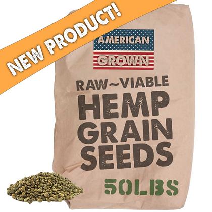 Wholesale 50LB | Raw Viable Hemp Grain Seeds Industrial Seeds | Bulk Seeds