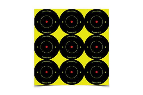"SHOOT-N-C RND BULLSEYE TGT 108-2"""