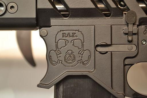 AR 15 rifle full contour billet receiver set
