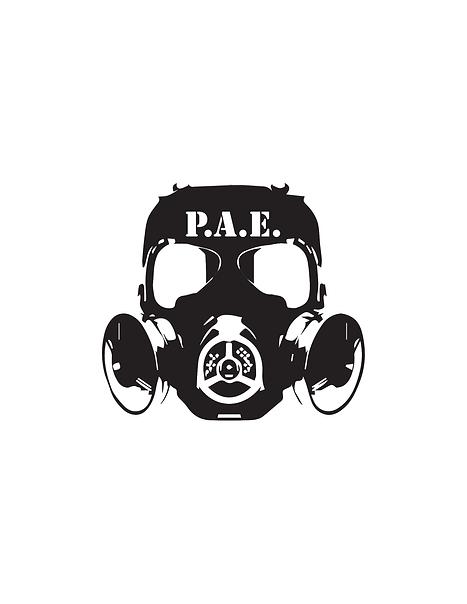 gas mask logo, prema arms gun store, littleton, co