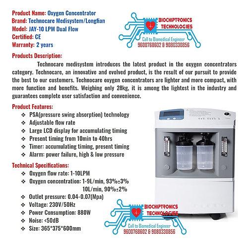 10LPM DualFlow Oxygen Concentrator