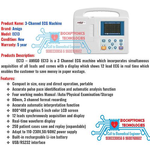 3Channel ECG Machine