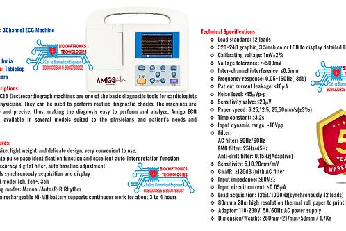 Amigo 3channel ECG machine