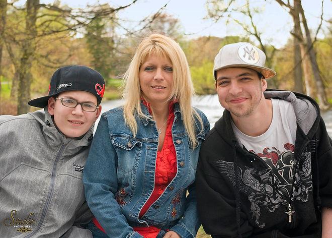 Manon Grenier et ses fils