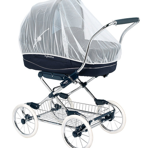 Strålebeskyttende barnevognsnet