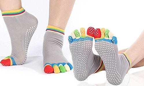 Yoga/Pilates sokker med tær