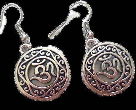 Tibetanske OM/AUM øreringe