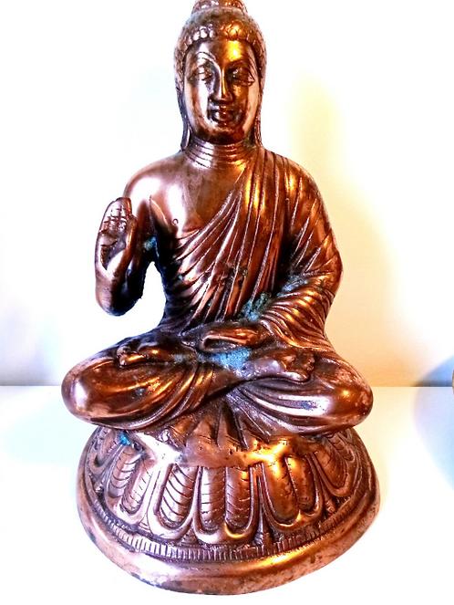 Håndslået Kobber Buddha - Unik!