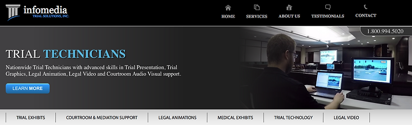 trial exhibits, legal animations, courtroom audio visual
