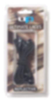 UP6731 Elastic Laces - Reflective Black.