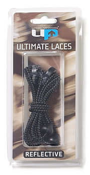UP6731 Elastic Laces - Reflective Black.