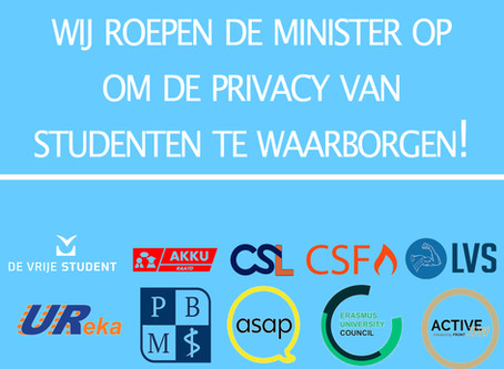 Studenten: Minister, let op onze privacy!