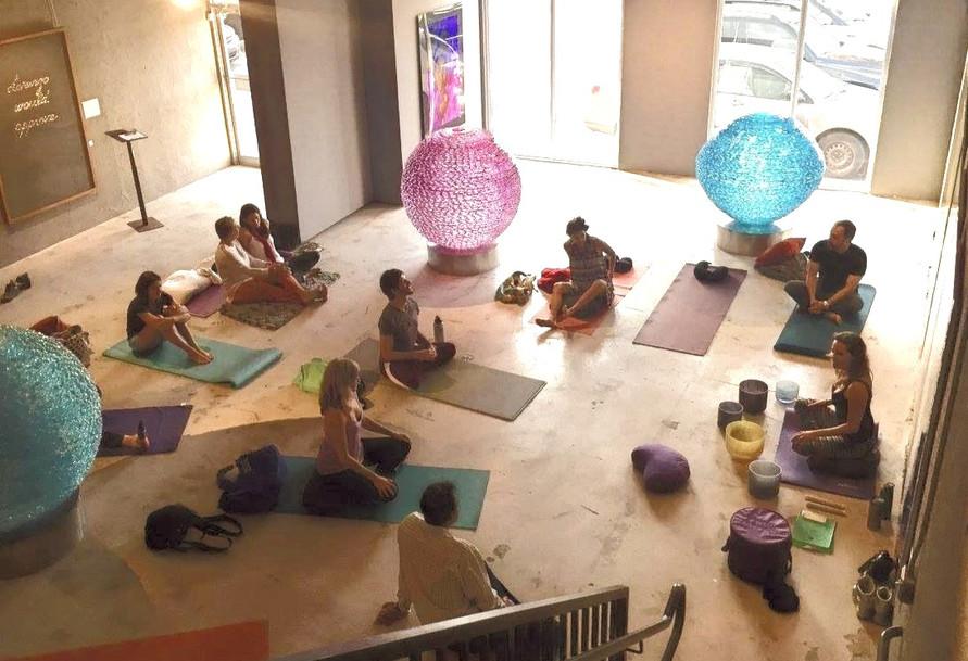 Yoga Nidra and Sound bowls at Art Gallery