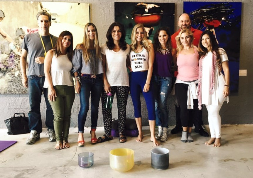 Sound healing event at Art Gallery