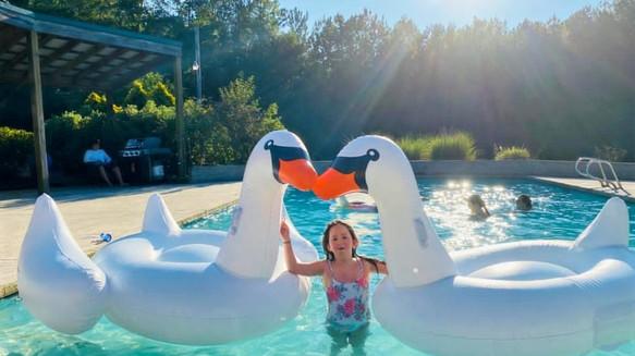 Float into a suntan