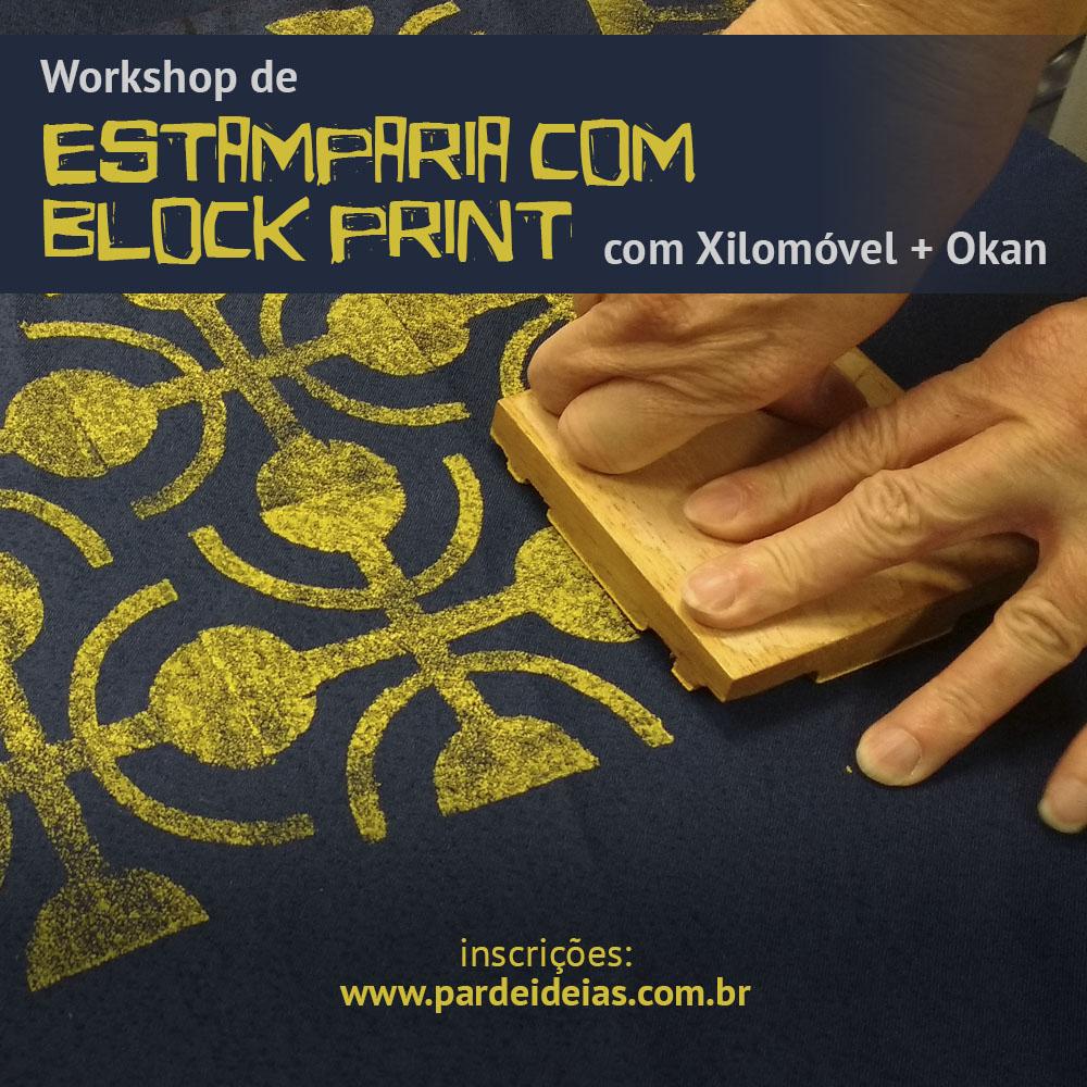 Estamparia com Block Print
