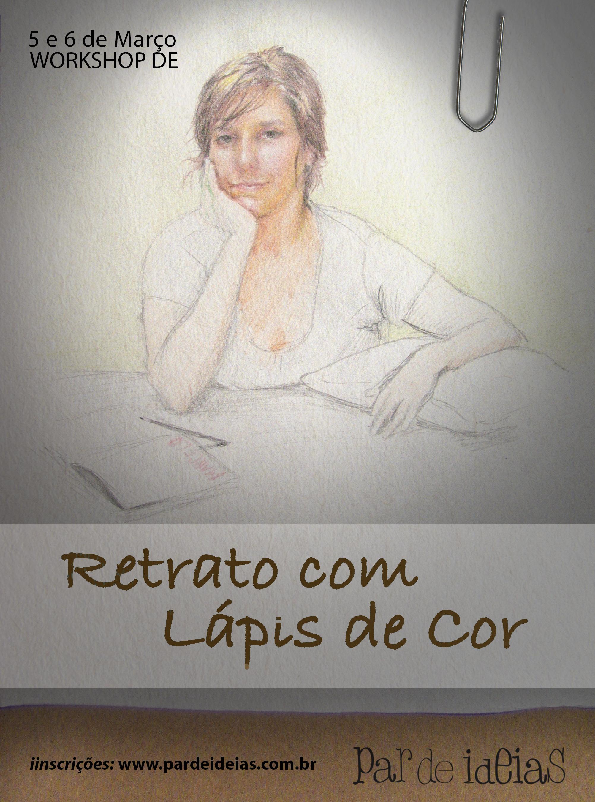 Retrato com Lápis de Cor