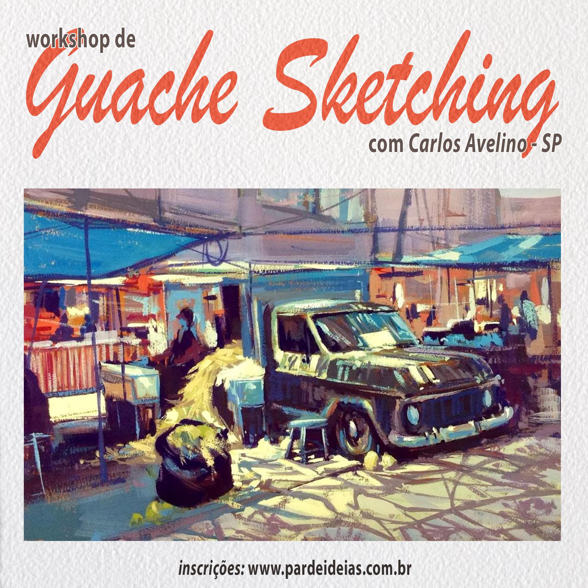 Guache Sketching