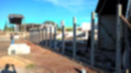 alinhamento pilares muro