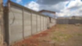 muro pre moldado acabamento
