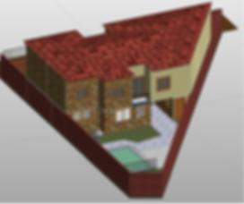 imagem 3D casa 200m²