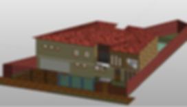 imagem revit 3D bim casa 200m²