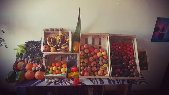 Fruits et légumes frais pour soins corps et visage bios et naturel