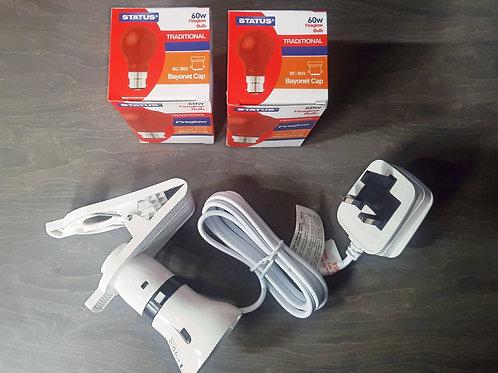 Brooder Heat Lamp (inc 2 x Bulbs)