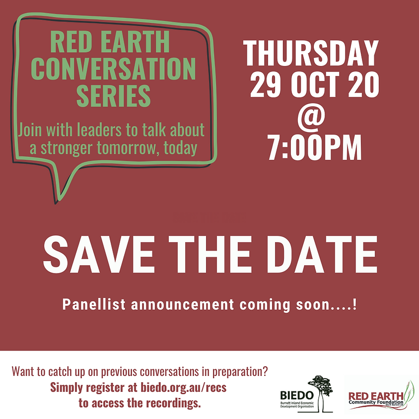 Red Earth Conversation Series: Session 7