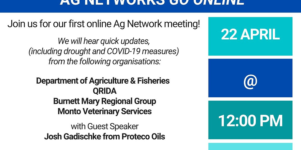 Ag Network Meeting - ONLINE - 22nd April