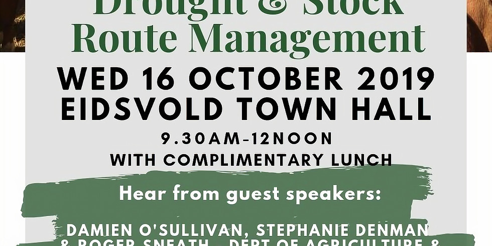 North Burnett Ag Network Quarterly Catch-up: Drought & Stock Route Management