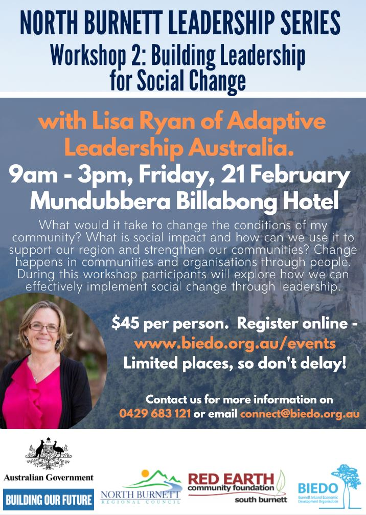 Building Leadership for Social Change: Workshop 2 (North Burnett Leadership Series)