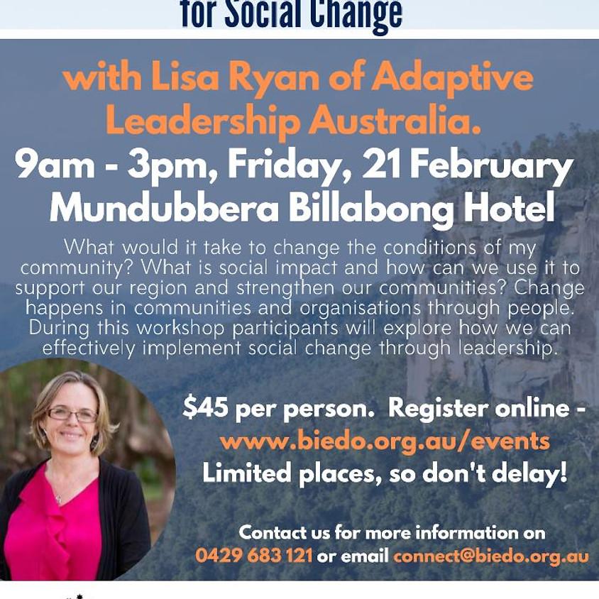Building Leadership for Social Change: Workshop 2 (North Burnett Leadership Series)
