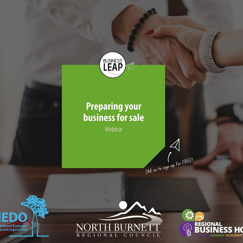 Taking Care of Business Webinar - Preparing your business for sale