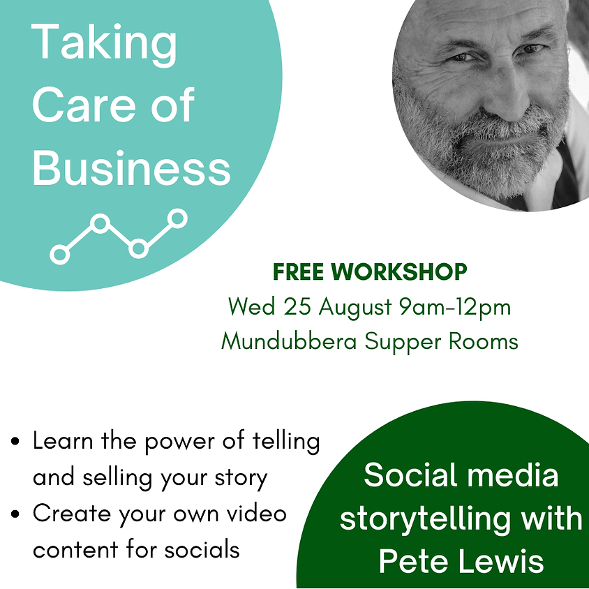 Taking Care of Business - Social media storytelling workshop with Pete Lewis