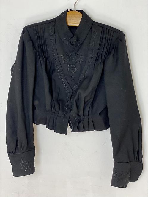 50s heavy cotton blouse