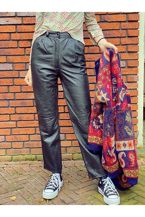 Vintage high waist leather pants