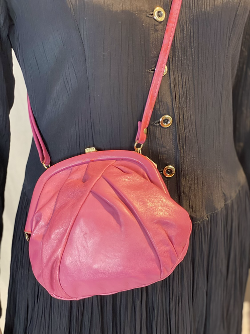 Vintage roze minibag crossbody