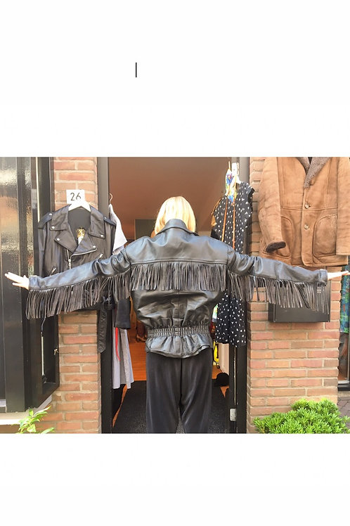 The 80s leather fringe jacket