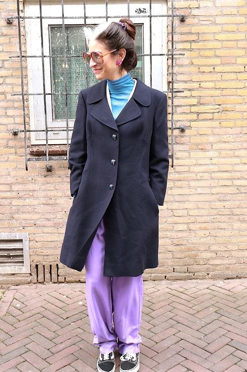 Vintage wollen jas - in between coat