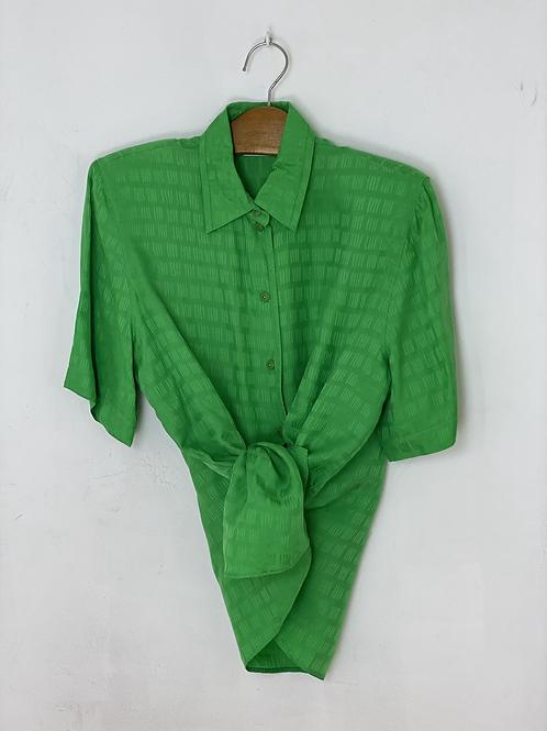 Groene blouse korte mouw