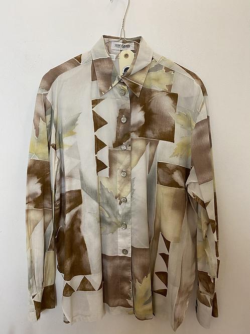 Gender neutral 90s print blouse