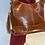 Thumbnail: Vintage leren tas met tassel