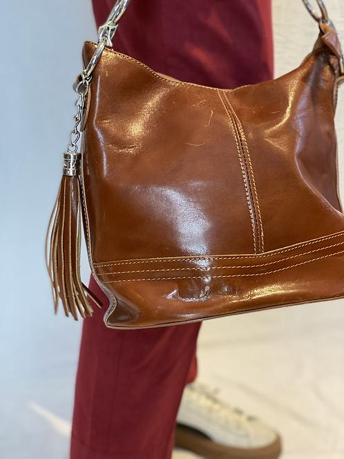 Vintage leren tas met tassel